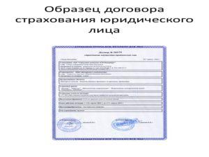 Договор страхования имущества образец заполненный