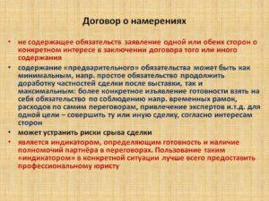 Соглашение о намерениях о сотрудничестве образец