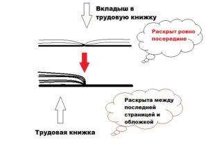 Как правильно вшить вкладыш в трудовую книжку нитками образец