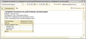 Расчет среднесписочной численности педработников программа 1с