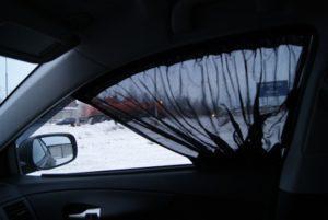 Можно ли спользовать шторки передних стекол в автобусе