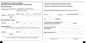 Образец заполнения нулевой декларации по страховым взносам