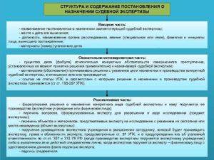 Постановление о назначении экспертизы его форма и содержание