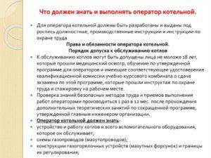 Должностная инструкция истопника котельной на дровах