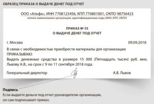 Деньги под отчет заявление 2019 год