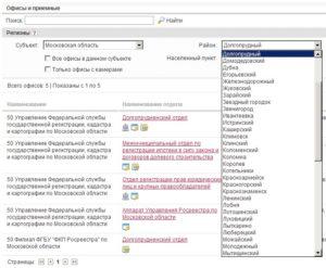 Росреестр офисы и приемные московской области
