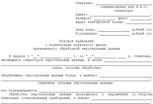 Заявление в прокуратуру о нарушение закона о персональных данных