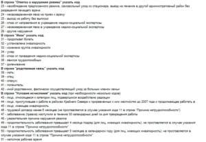 Коды заболеваний в больничном листе