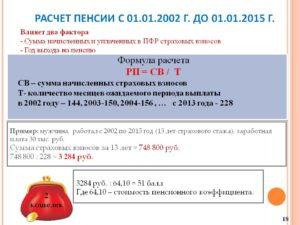 Расчет ипк для начисления пенсии за определенный период времени