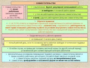 Как правильно в договоре внешнего совместителя прописать режим работы