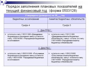 Инструкция по заполнению формы 0503128
