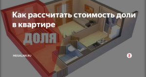 Как рассчитать долю в квартире метрах