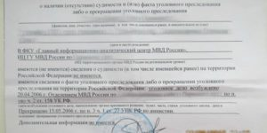 Как выглядит справка о несудимости в россии 2019