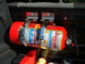 Где разместить огнетушитель в автомобиле