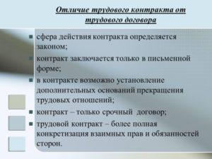 Отличие государственного контракта от контракта