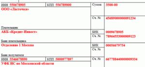 Код уип в платежном поручении 2019 году