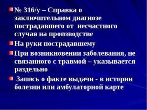 Справка 316 у
