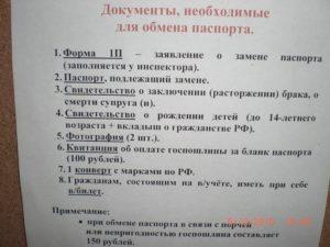 Паспортный стол пятигорск список документов на замену паспорта