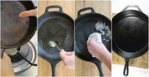 Купили некачественную чугунную сковородку