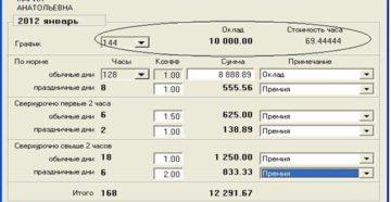 Как посчитать свою зарплату по часам калькулятор