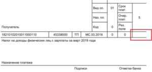 Вид оплаты в платежном поручении в 2019 году