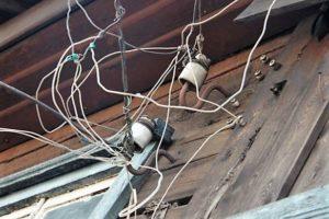Незаконное подключение к электросети минуя щиток