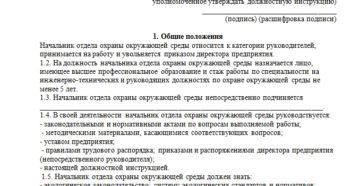 Должностная инструкция руководителя отдела торгов 223